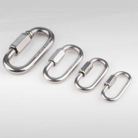 8mm Schraubglieder Edelstahl - Schnellverschluss für Stahlketten AISI316 INOX316 - Kettenverbinder