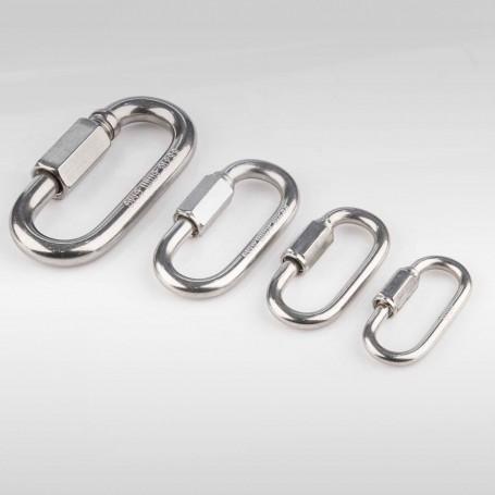 4mm - 8mm Schraubglieder Edelstahl - Schnellverschluss für Stahlketten AISI316 INOX316 - Kettenverbinder