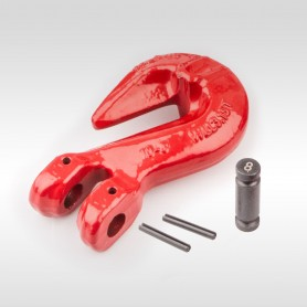6mm - 16mm Parallelhaken WLL 1,12t - 8t - Verkürzungshaken mit Gabelkopf  - 1120kg - 5300kg Güteklasse 8
