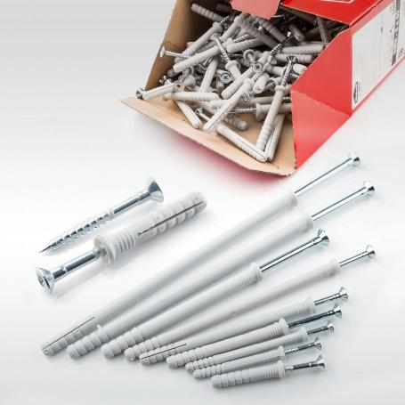 10 x 80-220mm Nageldübel Schlagdübel Einschlagdübel Senkkopf Dübel 50 bis 500 Stück