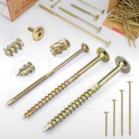 10 x 140mm Tellerkopfschrauben - Holzbauschraube Tellerkopf TX Antrieb (ab 50 Stück)