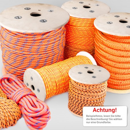 2mm - 25mm Polypropylenseil orange - PP Seil (Meterware: 10m - 200m)