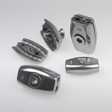 6mm Edelstahl Drahtseilklemme Eiform - A4 INOX 316 AISI 316 Klemmen für Drahtseil 6mm