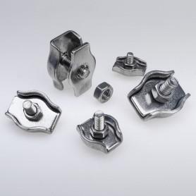 4mm Simplex Drahtseilklemme Edelstahl  - A4 INOX 316 AISI 316 Klemmen für Drahtseil 4mm