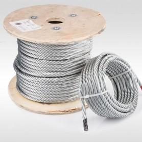 Drahtseil 10mm (6x37+FC) 5m bis 50m EN 12385-4 Stahlseil verzinkt 10 mm