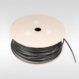 Drahtseil 4mm verzinkt PVC ummantelt schwarz (Draht 2mm - 1x19) 10m bis 200m Stahlseil 4 mm