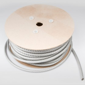 Drahtseil 10mm verzinkt PVC ummantelt transparent (Draht 8mm - 6x19+FC) 10m bis 50m Stahlseil 10 mm