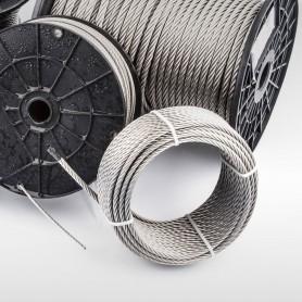 Edelstahlseil 4mm (7x19) - 5 bis 200m Drahtseil INOX AISI316 ISO2408 Stahlseil Edelstahl 4 mm