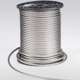 Edelstahlseil 6mm (7x7) - 5 bis 150m Drahtseil INOX AISI316 ISO2408 Stahlseil Edelstahl 6 mm