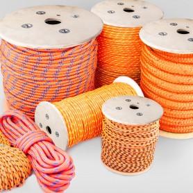 16mm Polypropylenseil orange - PP Seil (Meterware: 10m - 100m)