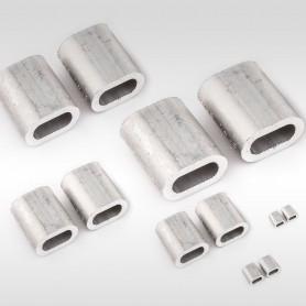 5mm Aluminium Pressklemmen - Presshülsen für Drahtseil 5mm (ab 5 stück)