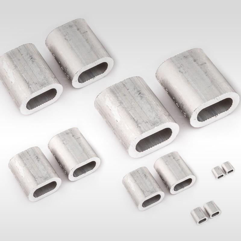 100 Stück Aluminium Pressklemmen Alupressklemmen Presshülsen versch Größen 50