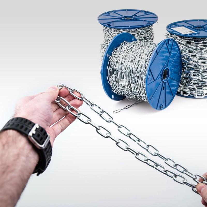 20m 4mm RUNDSTAHLKETTE kurzgliedrig verzinkt Stahlkette