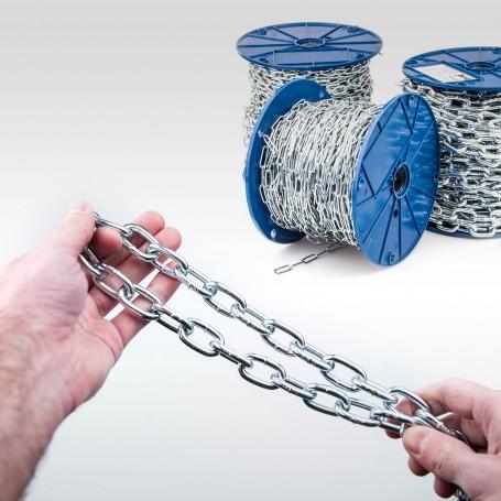 5mm Stahlkette DIN 5685A - kurzgliedrig Rundstahlkette (Meterware: 1m - 30m)