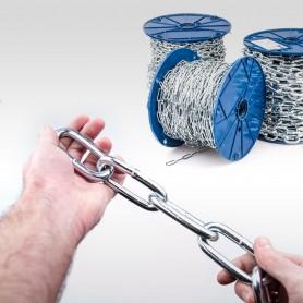 10mm Stahlkette DIN 5685C - langgliedrig Rundstahlkette (Meterware: 1m - 10m)