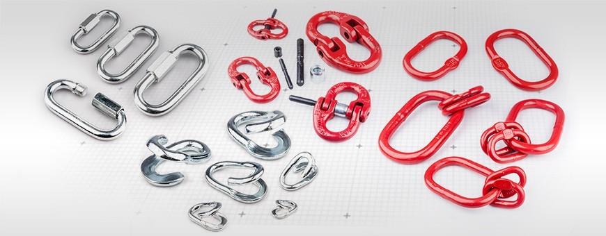 Breites Zubehörprogramm für Stahlketten:Schraubglied, Kettenglied u.a.