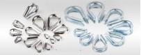 Seilkausche (ab 5 Stück): Kauschen Edelstahl, Kauschen verzinkt