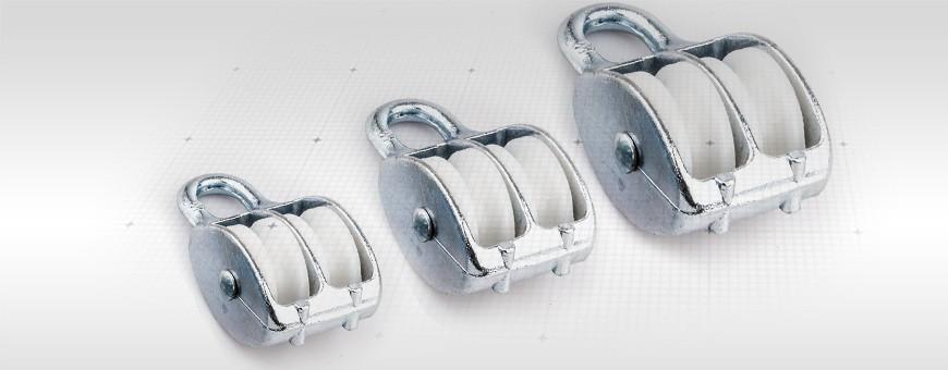 Seilrolle Doppelt verzinkt Größe: 15mm – 50mm Für Seil(max): 6mm -12mm