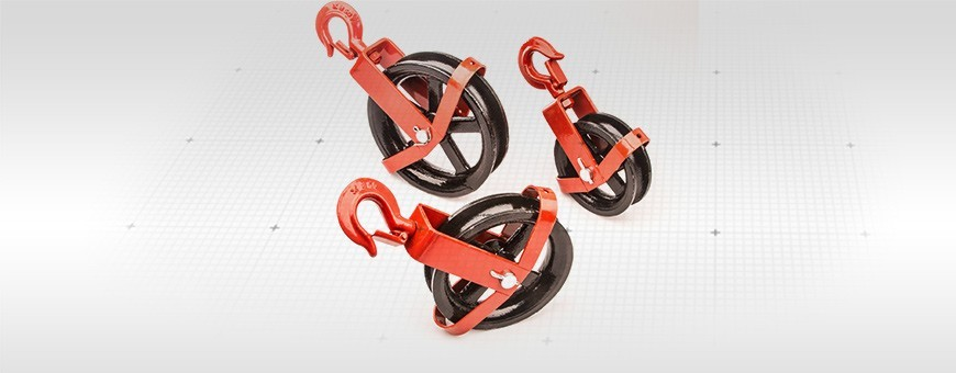 Seilrolle mit drehbarem Haken Größe:125mm 150mm 180mm  Siehe Seiloo.de