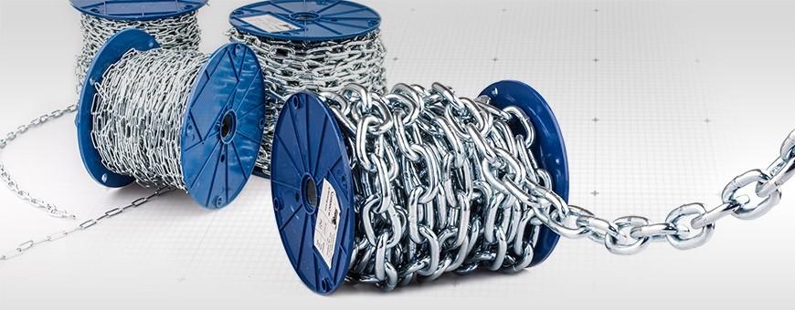 Stahlkette DIN 5685A kurzgliedrig Rundstahlkette (Meterware: 1m –110m)