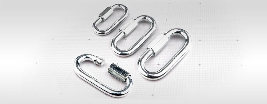 Schraubglied – Schnellverschluss Material: Stahl oder Edelstahl