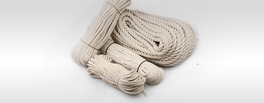 Baumwollseil gedreht Länge: 50m 100% Baumwolle Seiloo.de