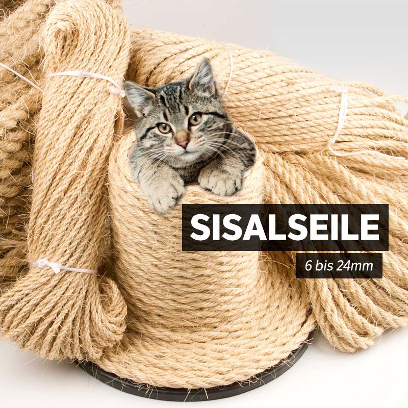 6mm Sisalseil Naturseil Leine Katzen Natur Kratzbaum Tauwerk Sisal 10 bis 50m