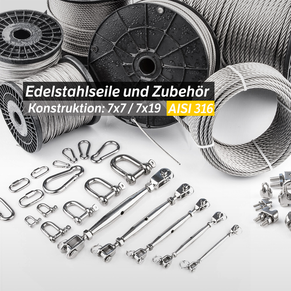 Edelstahl Kettenglied Kettenschnellverschluss Schraubglied Ketten INOX AISI V4A