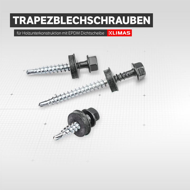 Wei/ßaluminium inkl 250 Stck Trapezblechschrauben 4,8 x 35mm RAL 9006 Stecknuss